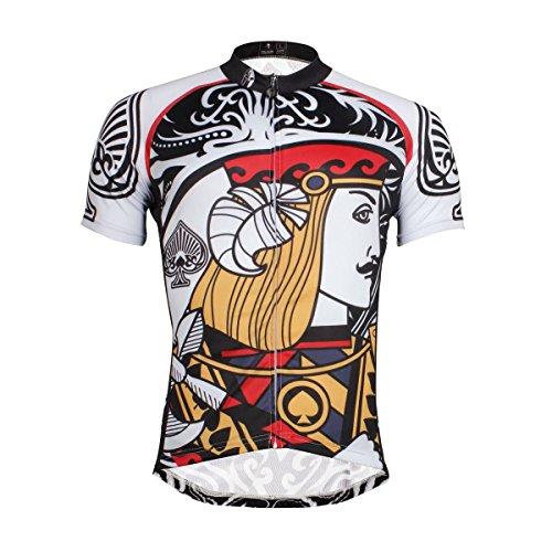 Paladin Cycling Jersey Specialized Men Short Sleeve Spade Pattern Bike Shirt  Size M e326b5abb