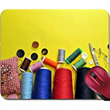 Liili Mousepad IMAGE ID 33227109 AS OBJECTS VARIOUS SEWING THREAD AND PINS SCISSORS