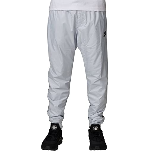 f94f609f56be8 Nike Men's Windrunner Cuffed Track Pants Running White Grey 898403 043 ...