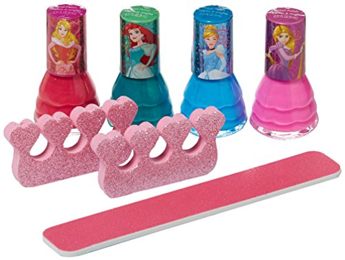 Disney Princess Non-Toxic 7 Piece Nail Polish with Nail (Girls Nail Polish)