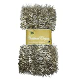 36 FT Christmas Garland Classic Christmas Decorations, Gold/Silver