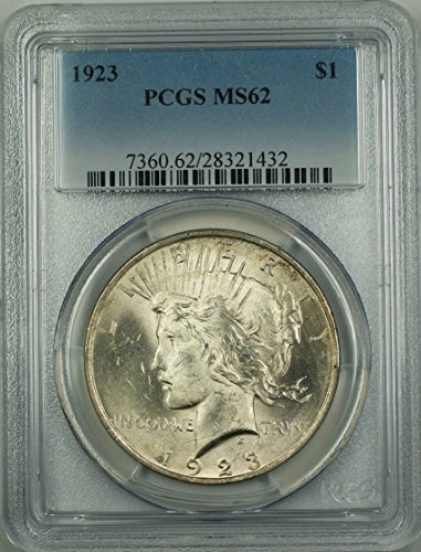 1923 No Mint Mark Peace Dollar PCGS MS-62