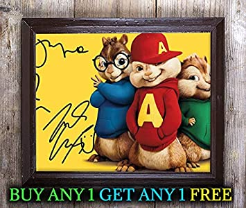 Amazon.com: Alvin and The Chipmunks – Foto autografiada ...
