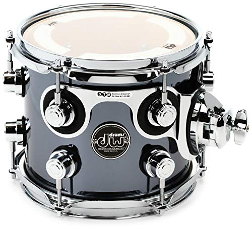 DW Performance Series Mounted Tom - 7 Inches X 8 Inches Chrome Shadow FinishPly