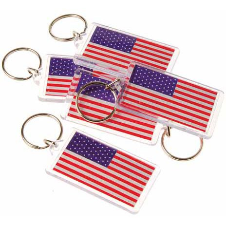 Toy American Flag Keychain Tags product image