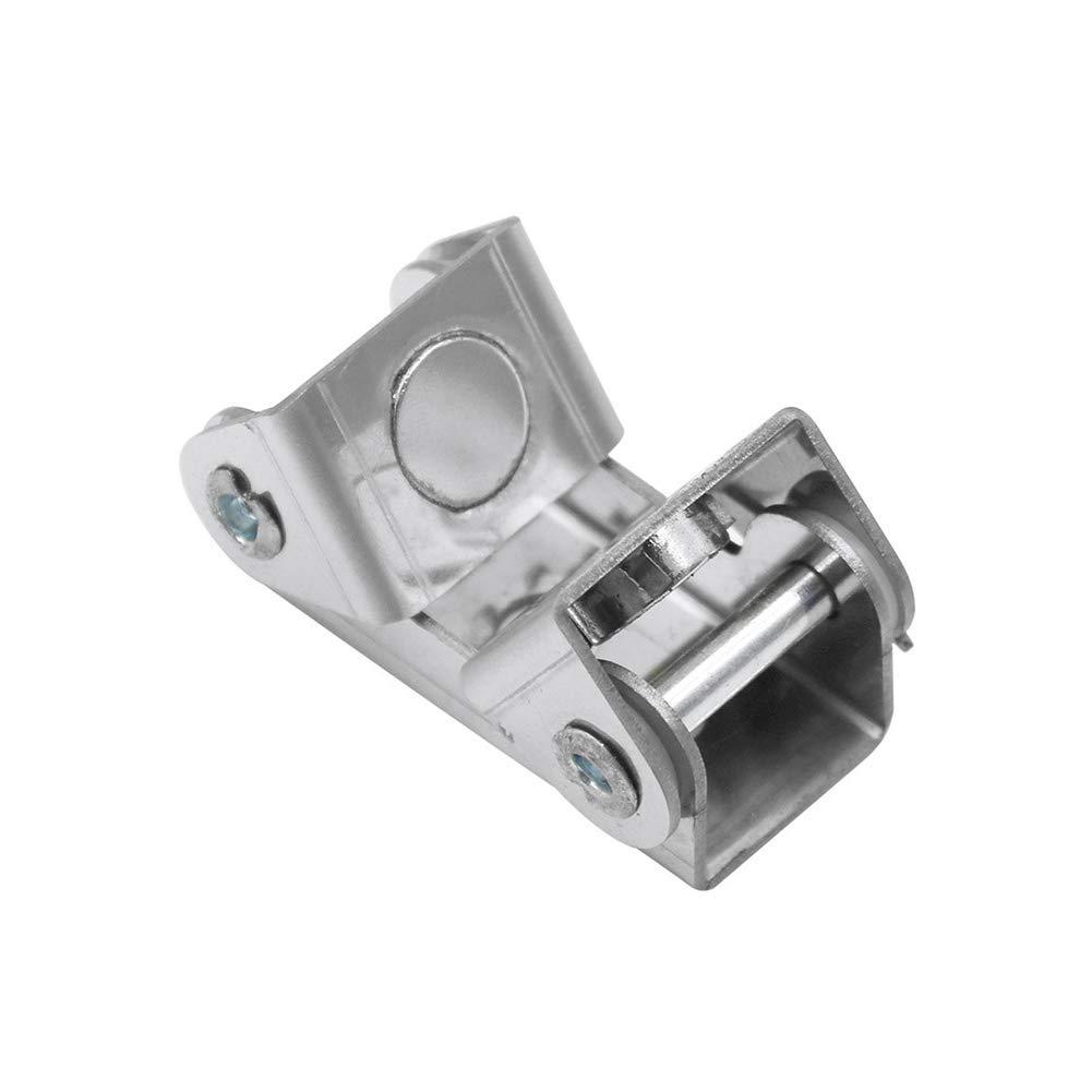 tipo V ajustable Sujetador magn/ético de acero inoxidable para soldar color plateado duradero