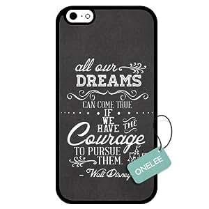 Onelee(TM) - Dreams Walt Disney Quote iphone 5C Case & Cover - Custom Personalized iphone 5C Case (TPU) - Black 4