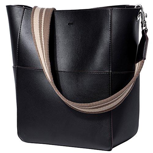 Large Bucket Shoulder Handbag Bag (Premium Oversized Leather Designer Women Shoulder Bag Stylish Bucket Handbag Ladies Girls Fashion Large Casual Tote Purse Black)