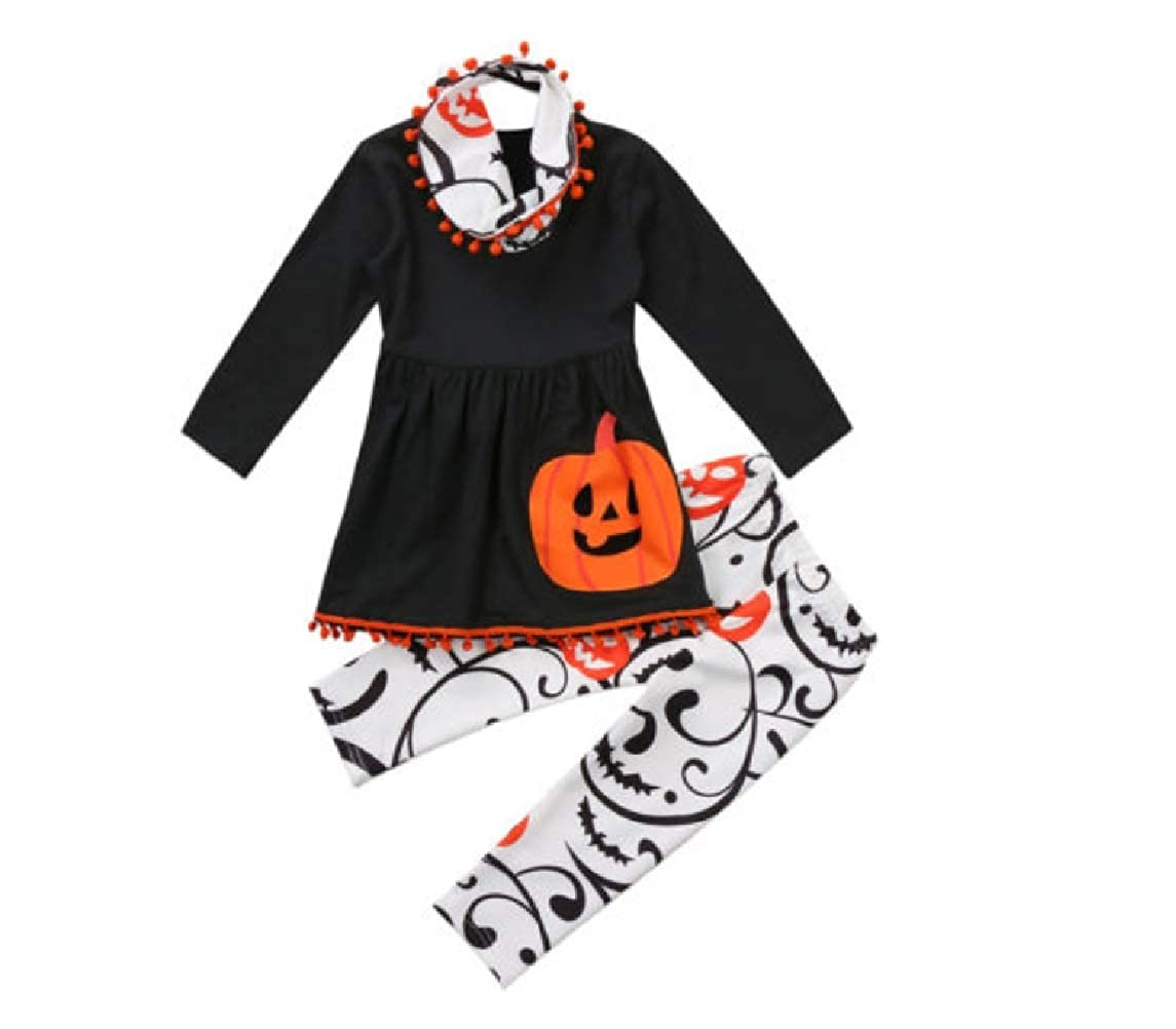 3 Piece Pumpkin PlayTunic and Leggings Set in Black from Chunks of Charm