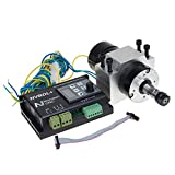 UCONTRO 400W 24-60V DC ER11 CNC Brushless Spindle Motor Driver Kit no Hall w/ Panel & Mount
