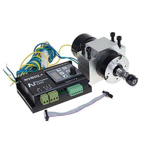 UCONTRO 400W 24-60V DC ER8 CNC Brushless Spindle Motor Driver Kit no Hall w/Panel & Mount