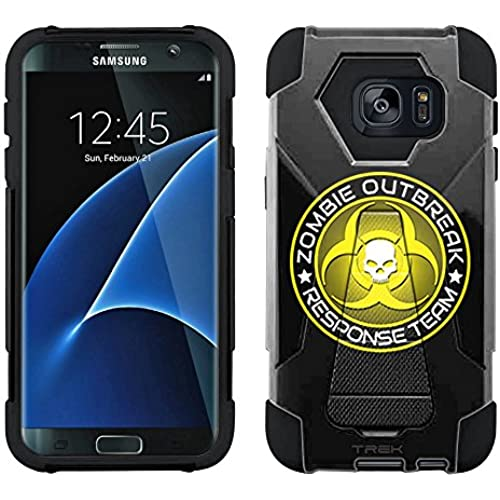 Samsung Galaxy S7 Edge Hybrid Case Zombie OutBreak Response Team Yellow on Black 2 Piece Style Silicone Case Cover with Stand for Samsung Galaxy S7 Edge Sales