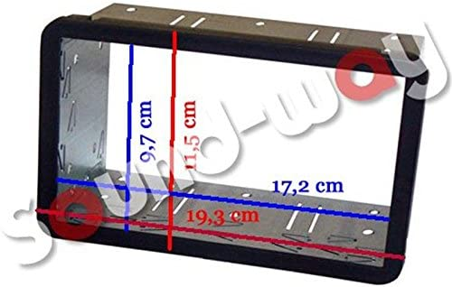 Kit Montage autoradio 1 DIN avec Vide Poche pour Alfa Romeo 159 Brera//Spider