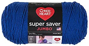 Red Heart Super Saver Jumbo Yarn, Royal
