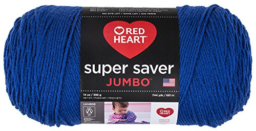 - Red Heart Super Saver Jumbo E302C, Royal
