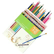 Cobee Colored Pencil 72 Pack Soft Core Water Soluble Pencil Set for Artist Student Paper Box Package