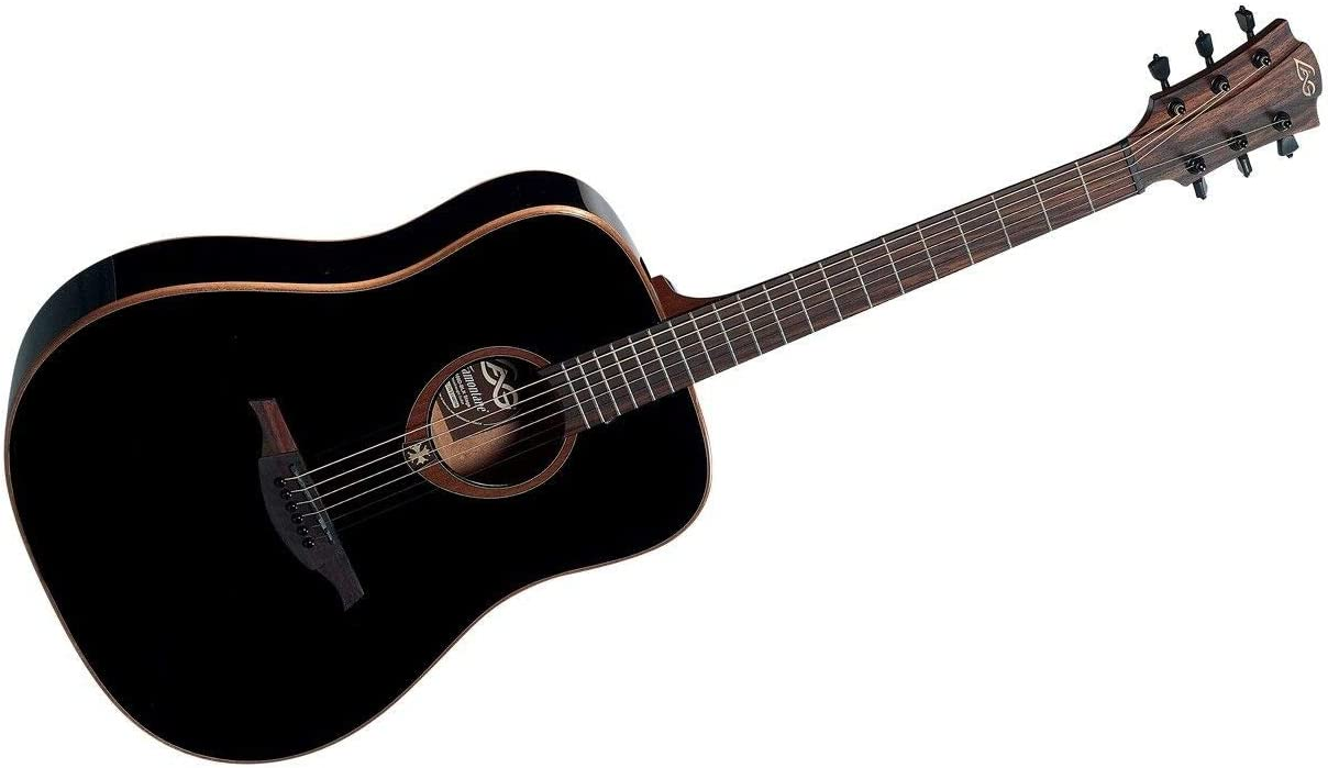 Lag - T100d blk dreadnought guitarra acustica negra: Amazon.es ...