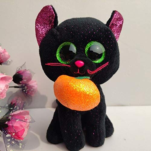 ILUTOY Ty Potion Cat Collection with Tush Label 1 Pc 15Cm 6 Inch Cat Pumpkin Stuffed All Saints' Day Halloween Must Have Tools Friendship Gifts My Favourite Superhero Classroom Mini Unboxing