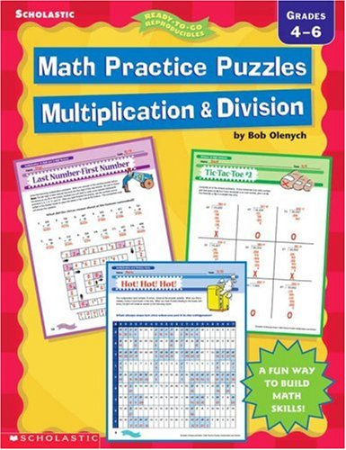 Math Practice Puzzles: Multiplication & Division (Ready-To-Go (Math Practice Puzzles)
