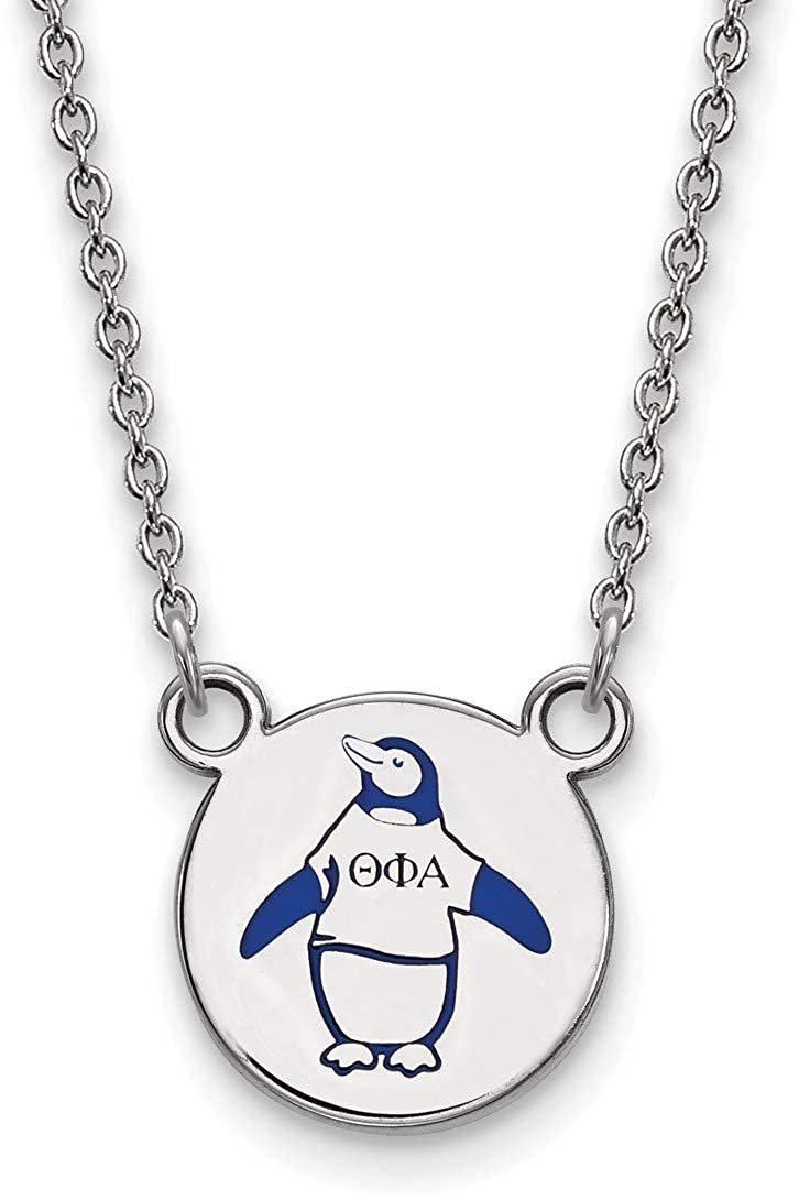 18 Sterling Silver Theta Phi Alpha X-Small Pendant Necklace by LogoArt SS044TPA-18