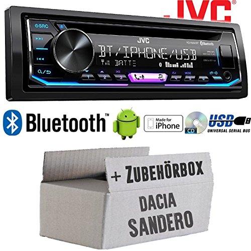 Bluetooth USB Android Einbauzubeh/ör MP3 JUST SOUND best choice for caraudio Autoradio Radio JVC KD-R992BT Einbauset f/ür Dacia Sandero Multicolor