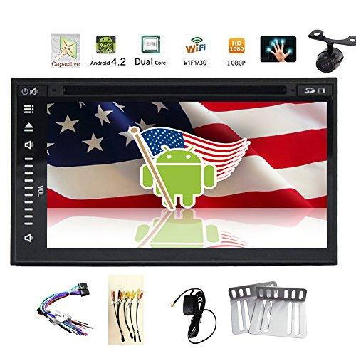 Camera+Android 4.4 7'' Car GPS Navigation DVD CD Video Playe