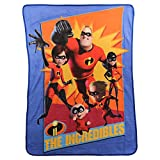 Northwest Kid's Colorful Character Micro Raschel Throw Blanket 46'' x 60'' (Incredibles)
