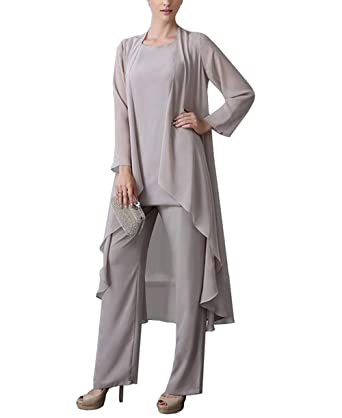b85af664f7e09 Vincent Bridal Women s 3 Pieces Formal Mother of The Bride Dresses Pants  Suits for Wedding(