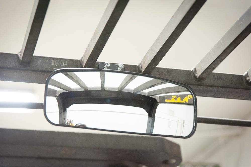 Toyota etc. Yale Deluxe Rear View Mirror for Forklifts Fits 3//16-1 Roll Cage Hyster
