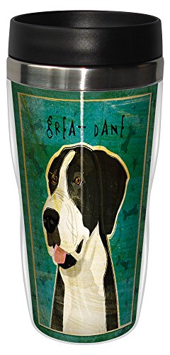 - Tree-Free Greetings sg24067 Black Great Dane-No Crop by John W. Golden 16-Ounce Sip 'N Go Stainless Steel Lined Travel Tumbler