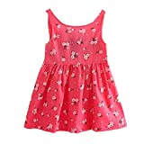 Product review for Voberry® Baby Kid Girl Sleeveless One Piece Dress Bowknot Summer Dress