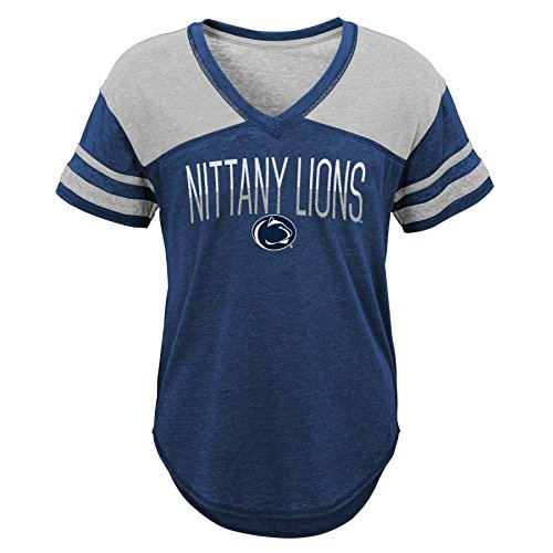 15 Lions Nittany Juniors 17Dark Sleeve Ncaa Penn State Traditional TeeX Short Navy Large XikZOTPu