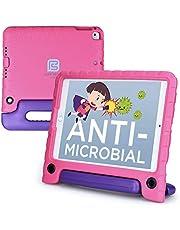 Pure Sense Buddy [antimikrobiella barnfodral] för iPad 6:e, 5:e generationen, iPad Pro 9.7, iPad Air 2, 1 | Fullt kit: fodral, rem, skärmskydd, spray