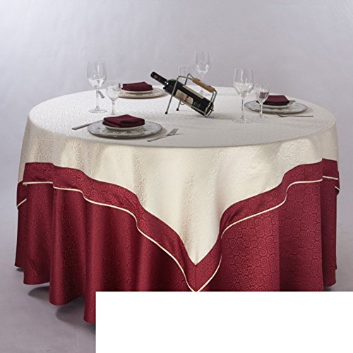 DIDIDD Pastoral Style Table Cloth Fabric Table Cloth round Table Cloth,E,diameter160cm(63inch) by DIDIDD