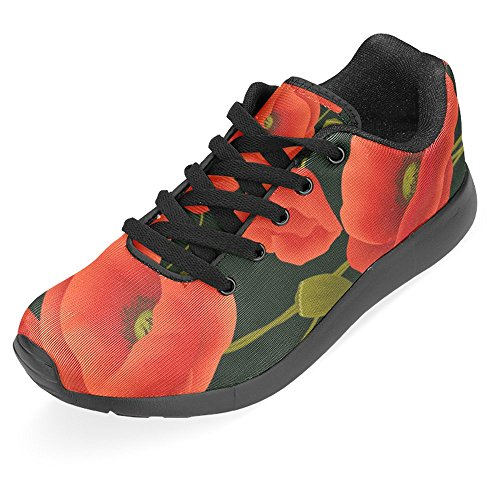 Interessante Donna Da Jogging Da Corsa Sneaker Leggero Andare Facilmente A Piedi Casual Sport Sportivo Scarpe Da Corsa Fiori Di Papavero E Coccinelle Multi 1