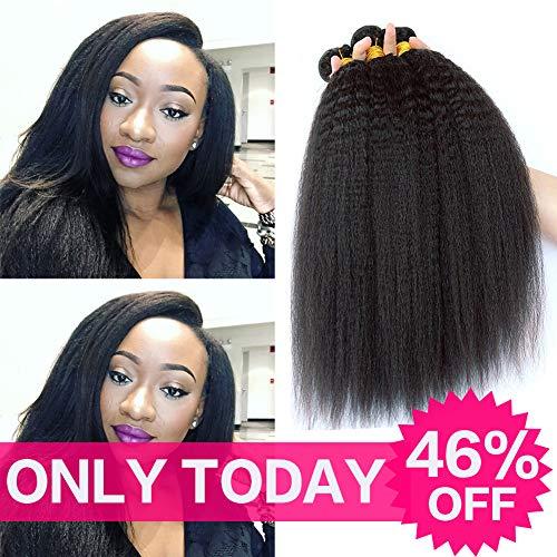 - 9A Grade Brazilian Yaki Straight Hair 3 Bundles 10 12 14 Inch Total 300 Grams Good Quality Kinkys Straight Hair 100% Unprocessed Virgin Human Hair No Tangle No Shedding