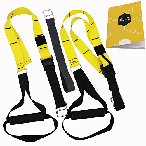 Alritz Resistance Trainer Kit, Hanging Resistance Straps with Exercise Book for Home, Gym and Outdoor Workouts