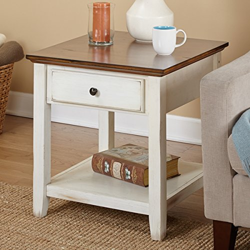 Simple Living Charleston Classic Style End Table (Cottage Style Sofa)