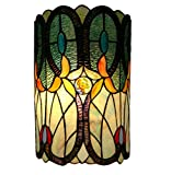 Amora Lighting AM247WL10 Tiffany Style Double-light Floral Wall Sconce 13.5 In High
