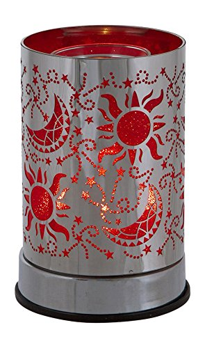 l&v New Electric Touch Fragrance Aromatherapy Oil Lamp Warmer Diffuser Celestial Red