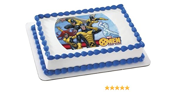 Excellent X Men Edible Cake Topper Decoration Amazon Com Grocery Gourmet Birthday Cards Printable Giouspongecafe Filternl