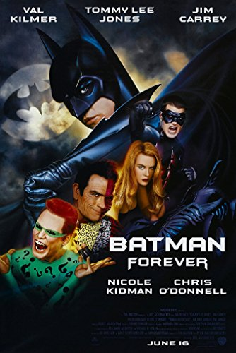 Batman Art Lee Jim (BATMAN FOREVER MOVIE POSTER 1 Sided ORIGINAL FINAL 27x40 VAL KILMER TOMMY LEE JONES)
