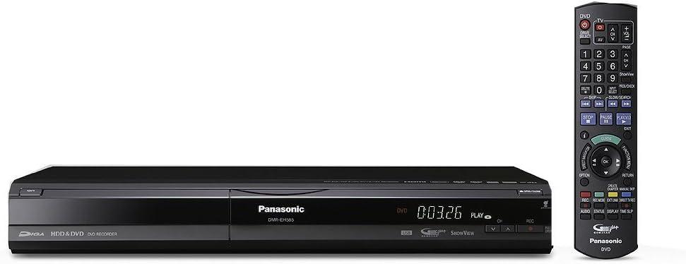 schwarz DivX-zertifiziert Panasonic DMR EH 585 DVD-Recorder mit Festplatte 250 GB