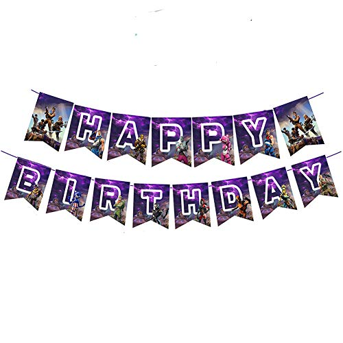 Awyjcas Video Game Party Favors Birthday Banner Party Supplies Baby Boy Birthday Cake Topper Felt Garland Party Decoration ...