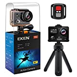 EKEN V8s 4K EIS Action Camera, Wifi Waterproof Sports Camera with 4K/2.7K/1080P60 fps Video, 14MP Photo and 170 Wide-Angle Lens, includes 10 Mountings Kit, 2 Batteries (Black)