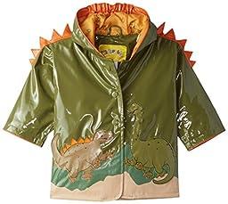 Kidorable Little Boys\' Dinosaur Raincoat, Green, 1T