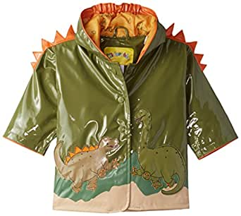 Kidorable Boys' Little Dinosaur All Weather Waterproof Coat, Green, 2T