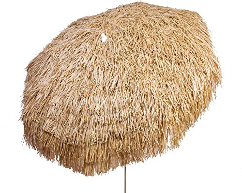 Heininger 1266 DestinationGear Palapa Tiki Brown 6' Patio Pole Umbrella -