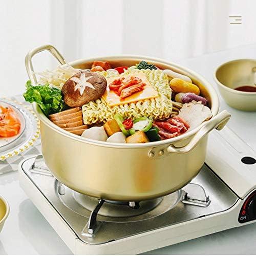 SMEJS Ramen Pot, Fast Cooker Nouilles, Boiler Minute for Soupe Pâtes aux œufs, Easy Light Batterie de Cuisine avec Couvercle