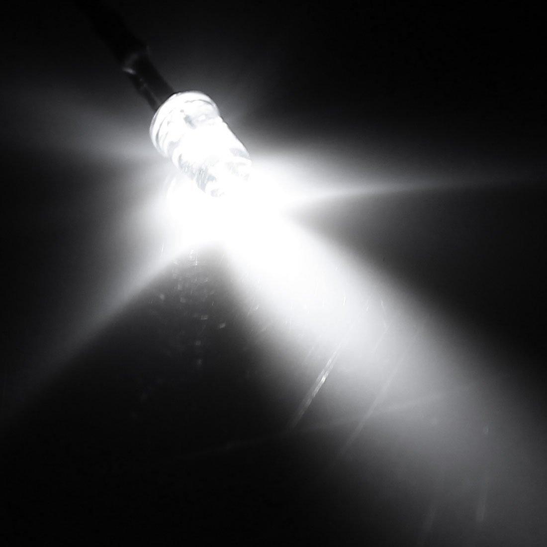 30pcs DC12V 5 mm Dia LED Jaune diodes électroluminescentes